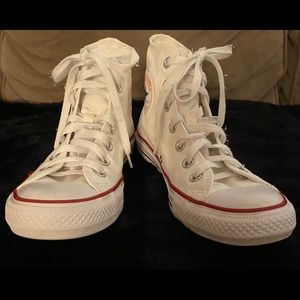 White Converse All Star High Tops Chucks